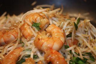Crevette sautées et soja