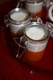 Velouté de tomate et basilic